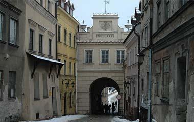 Brama Grodzka, widok od strony Starego Miasta