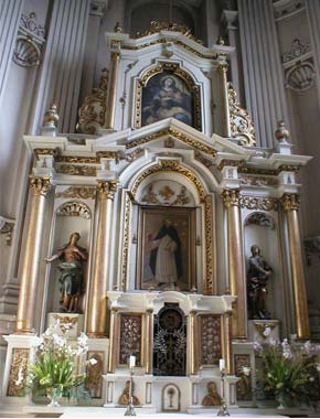 Kaplica Firlejów w kościele dominikanów w Lublinie - ołtarz