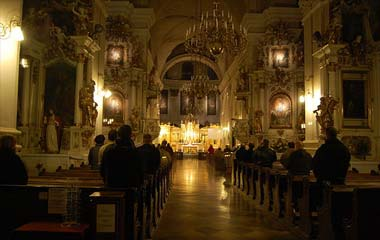 Wnętrze kościoła dominikanów