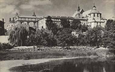 Kościół i klasztor dominikanów w Lublinie w roku 1964