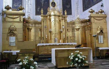 Ołtarz Główny z końca XVIII wieku