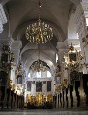 Wnętrze kościoła dominikanów w Lublinie