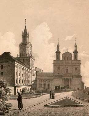 Plac katedralny w roku 1860
