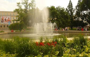 Fontanna w Lublinie na Placu Litewskim