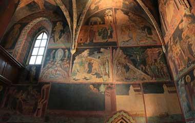 Fresk na północnej ścianie nawy kaplicy
