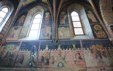 Fresk na południowej ścianie prezbiterium kaplicy