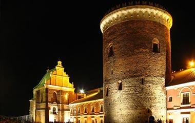 Zamek, kaplica Trójcy Świętej i XIII-wieczny donżon podczas Nocy Kultury 2008